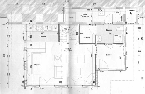 Sauna und kamin chalet mirabelle bei verbier - Grundriss wohnzimmer ...